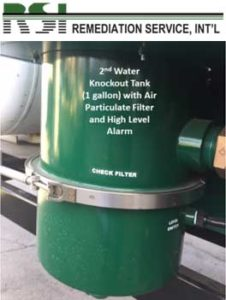 2nd Water Knockout Tank (1 Gallon) with Air Particulate Filter & High Level Alarm