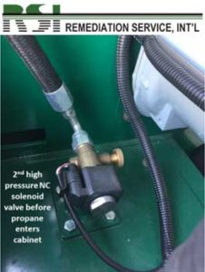 2nd High Pressure NC Solenoid Valve Before Propane Enters Cabinet